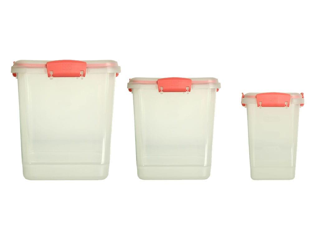 juego de recipientes plus x3 cuadrado a litros o salmon rimoplásticas