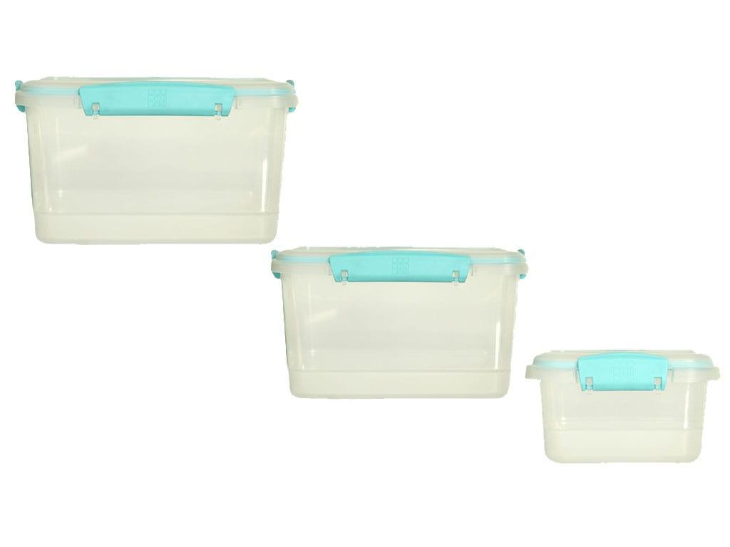 juego de recipientes plus x3 rectangulares a litros arandano rimoplásticas