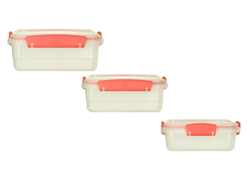 Juego RJuego Recip Plus Rectangulares Bajos X3 Salmonecip Plus Rectangulares Bajos X3 Salmon