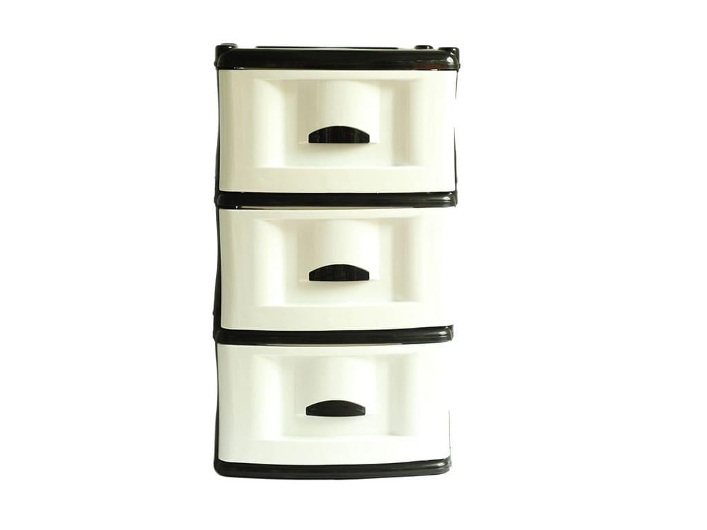 mueble organizador x3 negro blanco rimoplasticas Rimoplásticas